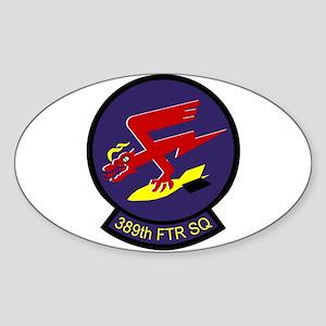 389th Fighter Squadron Oval Sticker