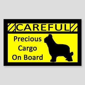 Precious Cargo Briard Sticker (Rect)