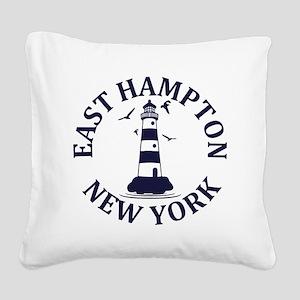 Summer East Hampton- New York Square Canvas Pillow