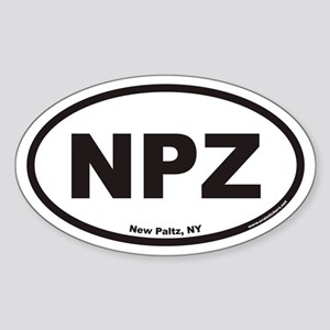 New Paltz NPZ Euro Oval Sticker