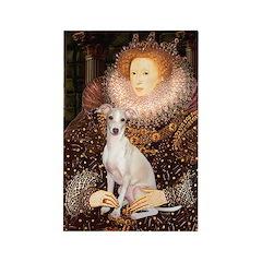 Queen / Italian Greyhound Rectangle Magnet (10 pac