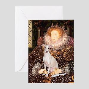 Queen / Italian Greyhound Greeting Card