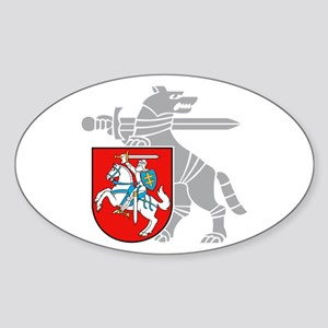 2184c0869686e6 LT Defense Ministry Vytis Oval Sticker