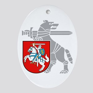 LT Defense Ministry Vytis Oval Ornament