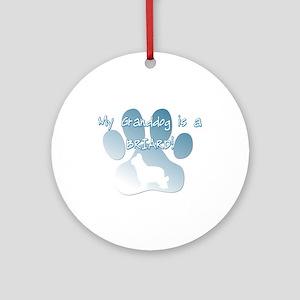 Briard Granddog Ornament (Round)
