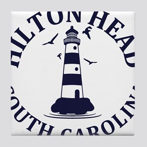 Summer hilton head- south carolina Tile Coaster