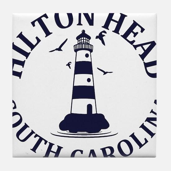 Summer hilton head- south carolina Tile Coaster