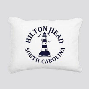 Summer hilton head- sout Rectangular Canvas Pillow