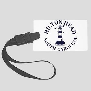 Summer hilton head- south caroli Large Luggage Tag