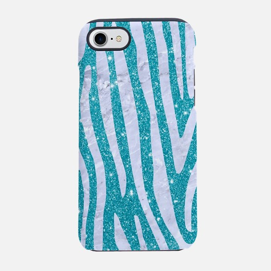 SKIN4 WHITE MARBLE & TURQUOI iPhone 8/7 Tough Case