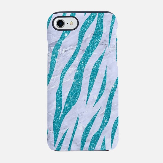 SKIN3 WHITE MARBLE & TURQUOI iPhone 8/7 Tough Case