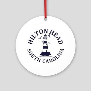Summer hilton head- south carolina Round Ornament