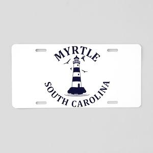 Summer myrtle beach- south Aluminum License Plate
