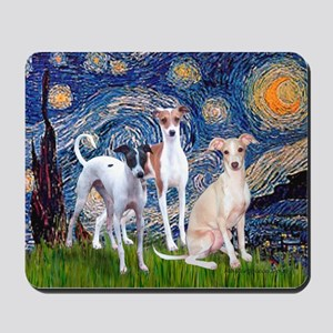 Starry Night / Ital Greyhound Mousepad