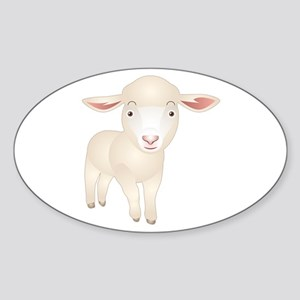 Baby Lamb Oval Sticker
