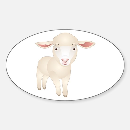 Baby Lamb Oval Decal