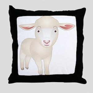 Baby Lamb Throw Pillow