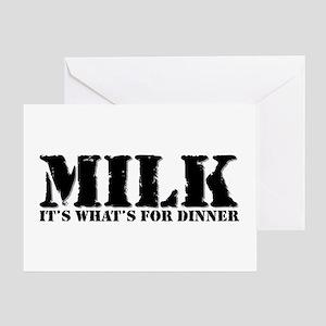 Milk for dinner Greeting Card