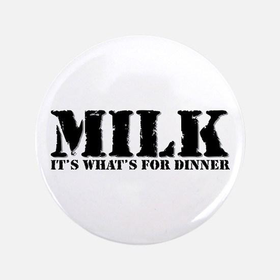 """Milk for dinner 3.5"""" Button (100 pack)"""
