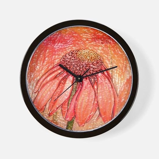 Echinacea Wall Clock