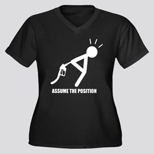 Assume the Position Women's Plus Size V-Neck Dark