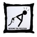 Assume the Position Throw Pillow