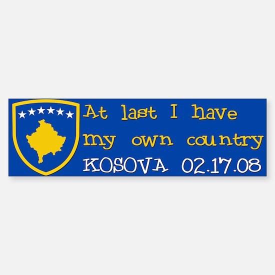 At last I have my own country Bumper Bumper Bumper Sticker