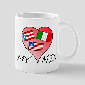 """""""My Mix"""" Mug (puerto Rico, Italy, Usa.)"""