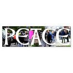 Peace protest bumper sticker