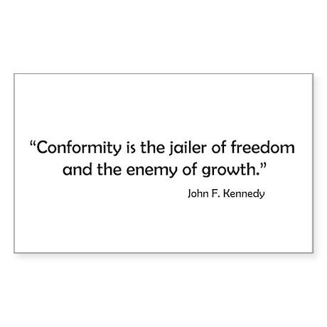 Conformity Rectangle Sticker