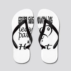 Greater Swiss Mountain Dog Leaves Paw O Flip Flops