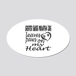 Greater Swiss Mountain Dog L 20x12 Oval Wall Decal