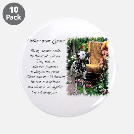 """Dalmatian Art 3.5"""" Button (10 pack)"""