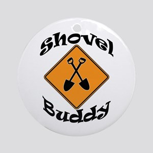 Shovel Buddy Ornament (Round)
