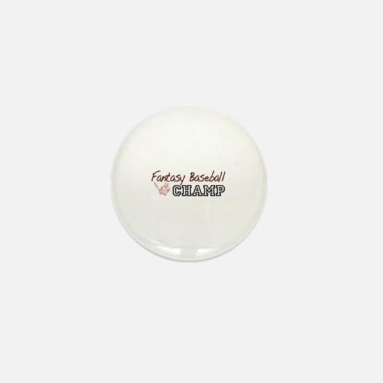 Fantasy Baseball Champ Mini Button