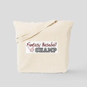 Fantasy Baseball Champ Tote Bag