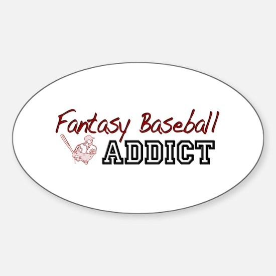 Fantasy Baseball Addict Oval Decal