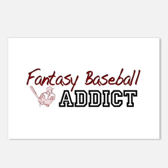 Fantasy Baseball Addict Postcards (Package of 8)