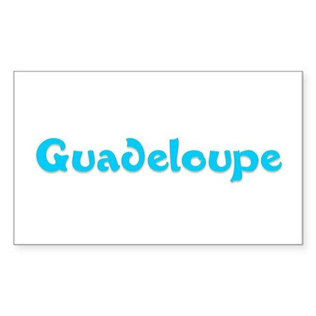 Guadeloupe Rectangle Sticker