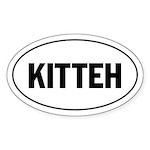 Kitteh - Lolspeak Oval Sticker