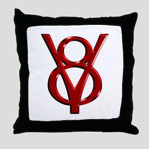 Red Chrome Throw Pillow