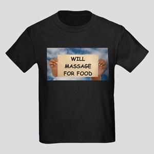 Massage For Food Kids Dark T-Shirt