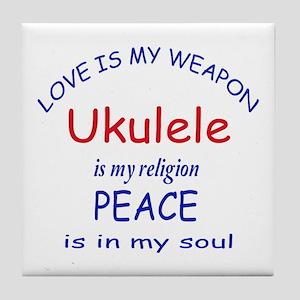 Violin is my religion Tile Coaster