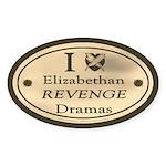 Revenge Drama Oval Sticker