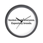 Sexism Hurts Wall Clock