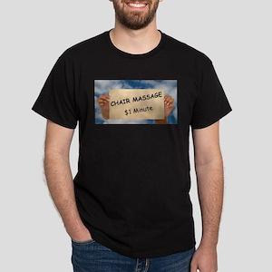 Chair Massage $1 Minute Dark T-Shirt