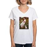 Windflowers / Ital Greyhound Women's V-Neck T-Shir
