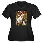 Windflowers / Ital Greyhound Women's Plus Size V-N