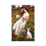 Windflowers / Ital Greyhound Sticker (Rectangle)