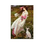 Windflowers / Ital Greyhound Rectangle Magnet (10